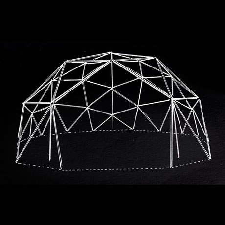 wireframe Image of geodesic dome