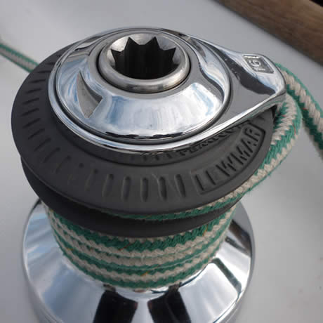 Chrome Lewmar nautical winch
