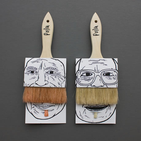 Poilu Comedy Paintbrush Packaging