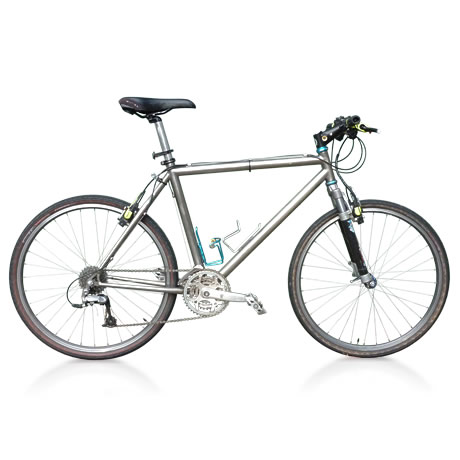 Raleigh Special Products titanium cross-country bike masked against a white background