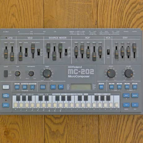 Roland Mc 202 Microcomposer analogue synth created by Ikutaro Kakehashi