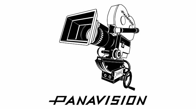 Final 3d Illustration of a panavision camera with logotype